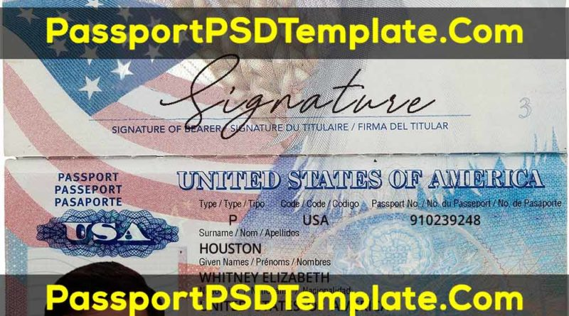 USA Passport Template PSD United States of America 2020 NEW fake-passport-template-psd-photoshop-bitcoin-editable-id-bill-drivers-license