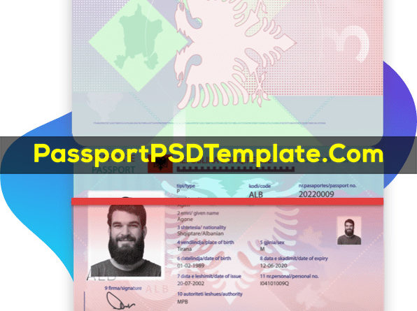 italy Passport Template PSD Photoshop Editable Drivers License Fake ID Card Maker PayPal Bitcoin